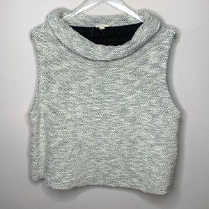 Eileen Fisher Wht/Blk Sleeveless Sweater Large